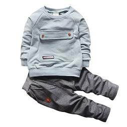 2016 Baby Boys Kids 2 Pieces Fall Clothing Set T-Shirt Pants