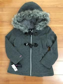 4 nwt girls fur hooded jacket size