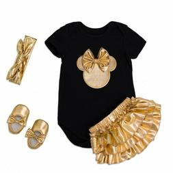 4pcs newborn baby girls outfits clothes romper