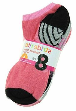 8 Pair Stride Rite Girls Cotton No Show Socks Shoe Size: Sma