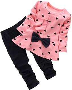 BomDeals Baby Girl Cute 2pcs Set Children Clothes Suit Top a
