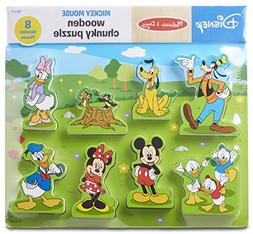 Melissa & Doug Disney Mickey Mouse Clubhouse Wooden Chunky P