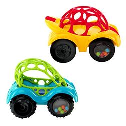 O Ball 1-Piece Rattle & Roll Car, Assorted Colors