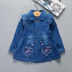 Toddler Baby Girls Clothes Jackets Coats Kids Girl Child Jac