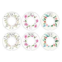 Baby Closet Dividers, First Bouquet, Girl, Set of 6 Size Org