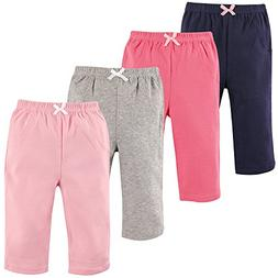 Luvable Friends Baby Cotton Tapered Ankle Pants, Girl Solids