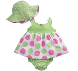 GERBER BABY GIRL 3-Piece Set Dress, Panties & Cap Baby Showe