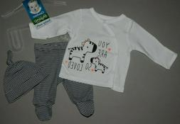 Baby girl clothes, Newborn, Gerber Organic 3 piece set
