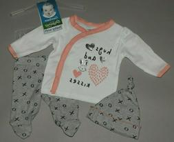 Baby girl clothes, Preemie, Gerber Organic 3 piece set/ NEW