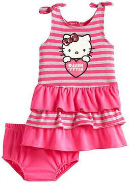 baby girl dress with diaper set