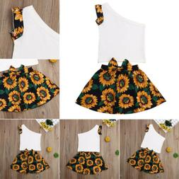 Baby Girls Floral Clothing Sets Kids Girls 2pcs Outfits For