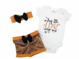 Baby Girls  My 1st Halloween Layette Set Outfit Boutique Inf