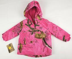 Carhartt Baby Girls' Sherpa Lined Camo Redwood Jacket, Realt