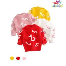 Baby Girls Sweaters Pattern Print  Clothes Pullover Stripe C