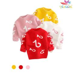 Baby Girls  Sweaters Pullover Stripe Costume Pattern Print
