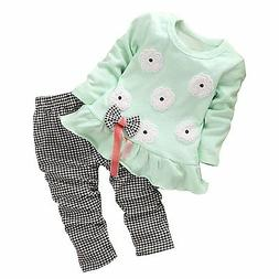 Baby Toddler Girl Clothing Adorable Outfit 2pcs BomDeals Eas