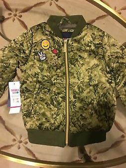 Limited Too Bomber Jacket Sz 4 Long Sleeve Green Toddler Gir