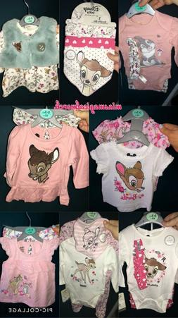 Brand New Baby Girl's Primark Disney Bambi Baby Clothing Out