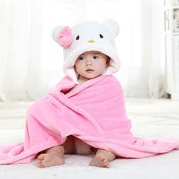 Priors™ Cartoon Hooded flannel Towels For Babies