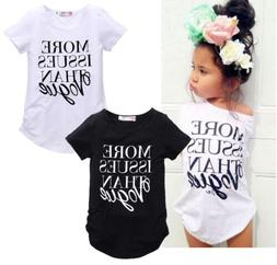 Casual Toddler Kids Girls Summer Vogue Short Sleeve Tops T-s