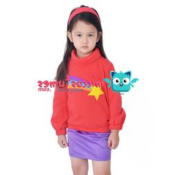 Child Gravity Falls Mabel Pines Costume Clothes for Girls Ha
