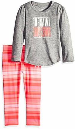 Under Armour Childrens Apparel Toddler Girls Tee and Legging