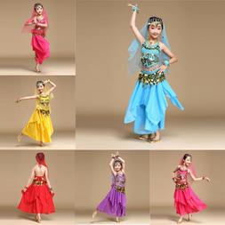 Chirldren Kids Girl Belly Dance Dresses Costume National Dan