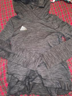 adidas, Climalite, Girls Top, Size Small 7/8, pullover. Gray
