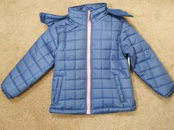 Coats Clothes Outerwear Girls Jackets Hoodie jackets Blue Pi