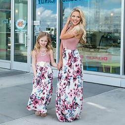 Family Matching Cloth Women Girl Mother and Daughter Floral