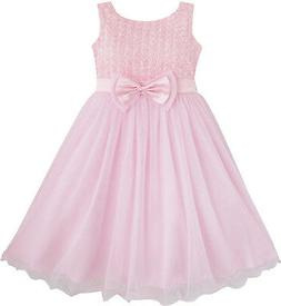 Flower Girl Dress Rose Flower Pink Wedding Bridesmaid Child
