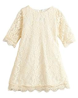 flower girl lace dress country dresses