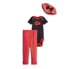 Gerber Girl 3-Piece Black/Red Ladybug Set Sizes 18M or 24M B