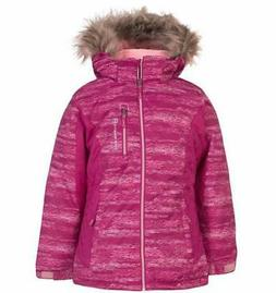 Free Country Girl's Hooded Boarder Jacket Coat - Faux Fur Ho