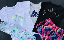 GIRL'S SIZE LARGE  ADIDAS LOT OF 3 SPRING & SUMMER OUTFITS N