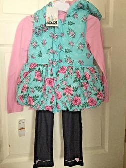 girls 3 piece vest top and pants
