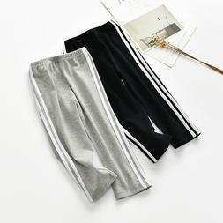 Girls Boys Pants Sports Clothes Long Bottom Pant Trousers