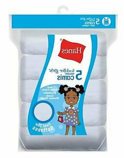 Girls' Cami White 5-Pack Hanes TAGLESS Toddler Soft 100% cot