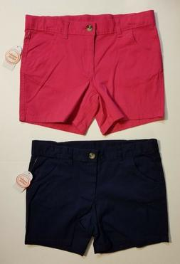 Wonder Nation Girls' Chino Shorts *2 PACK* Kids Cotton FUSHI