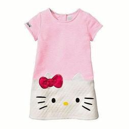 Girls Clothes HelloKitty dress girl Princess Baby Cotton chi