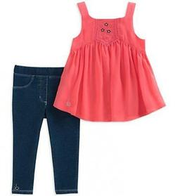 Calvin Klein Girls Coral Tunic 2pc Jegging Set Size 2T 3T 4T