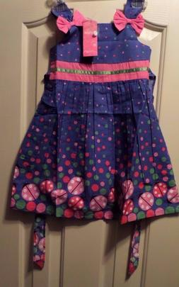 Sunny Fashion Girls Dress Blue Lady Bug  Cool Summer Girls C