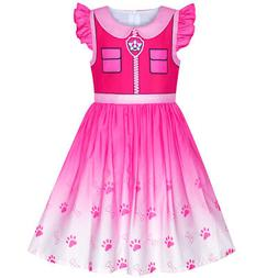 Sunny Fashion Girls Dress Paw Patrol Skye Costume Halloween