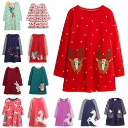 Girls Kids Autumn Clothes Long Sleeve Festival New Party Uni