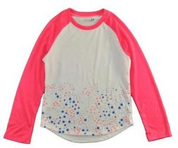 Under Armour Girls L/S White & Pink Dry Fit Top Size 5