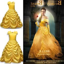 Girls Princess Dress Beauty and the Beast Belle Cosplay Cost