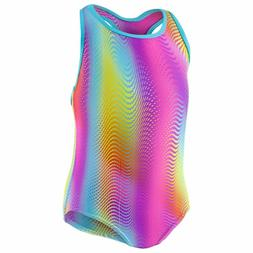 Speedo Girls Racerback One Piece Rainbow Brights Swimsuit si