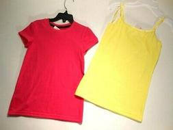 Girls shirts Girls Clothes Tops T-shirts Pink Yellow tees 2