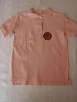 Faded Glory Girls Size 4 5 Short Sleeve Pink Polo Shirt NWT