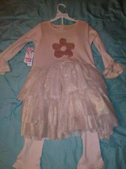Girls Size 6 Limited Too Dress With Leggings Clothing New